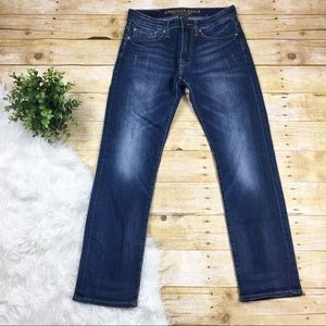 American Eagle | Distressed Denim Flex Slim Jeans